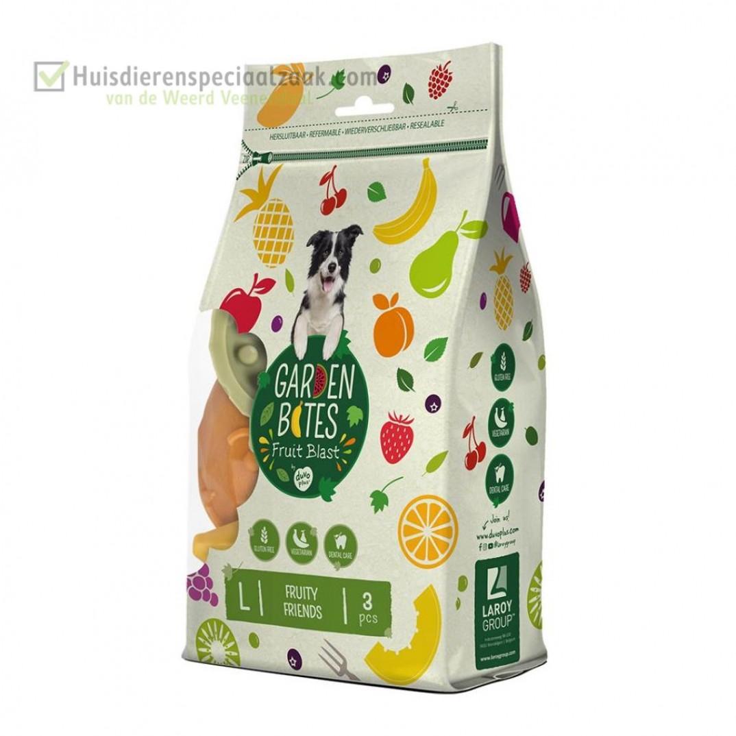 Garden Bites fruity friends groot in een zak van 3 stuk