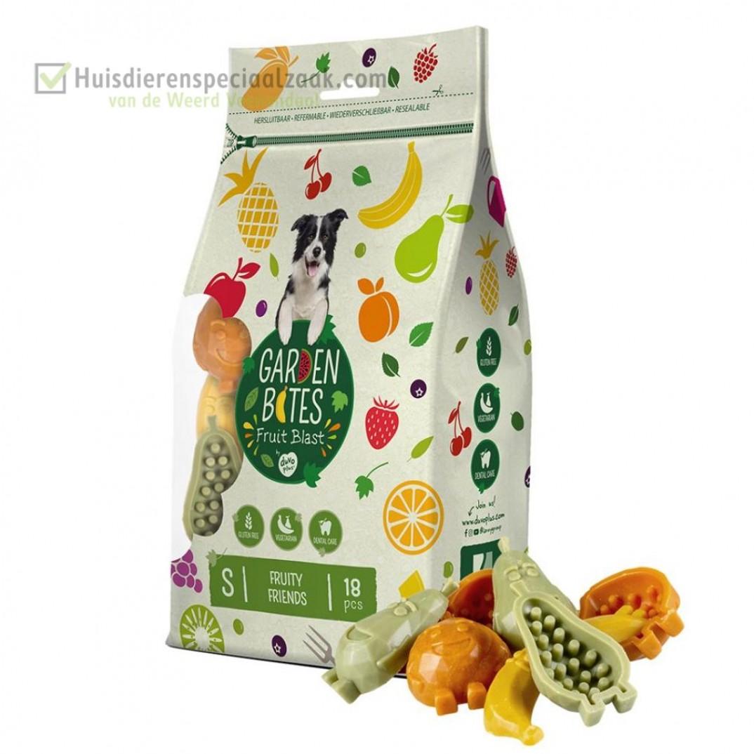 Garden Bites fruity friends klein in een zak van 18 stuk