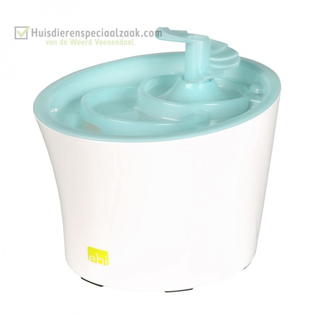 Tugela Drinkfontein met inhoud van 3 liter en de kleur blauw, voor kleine honden en katten