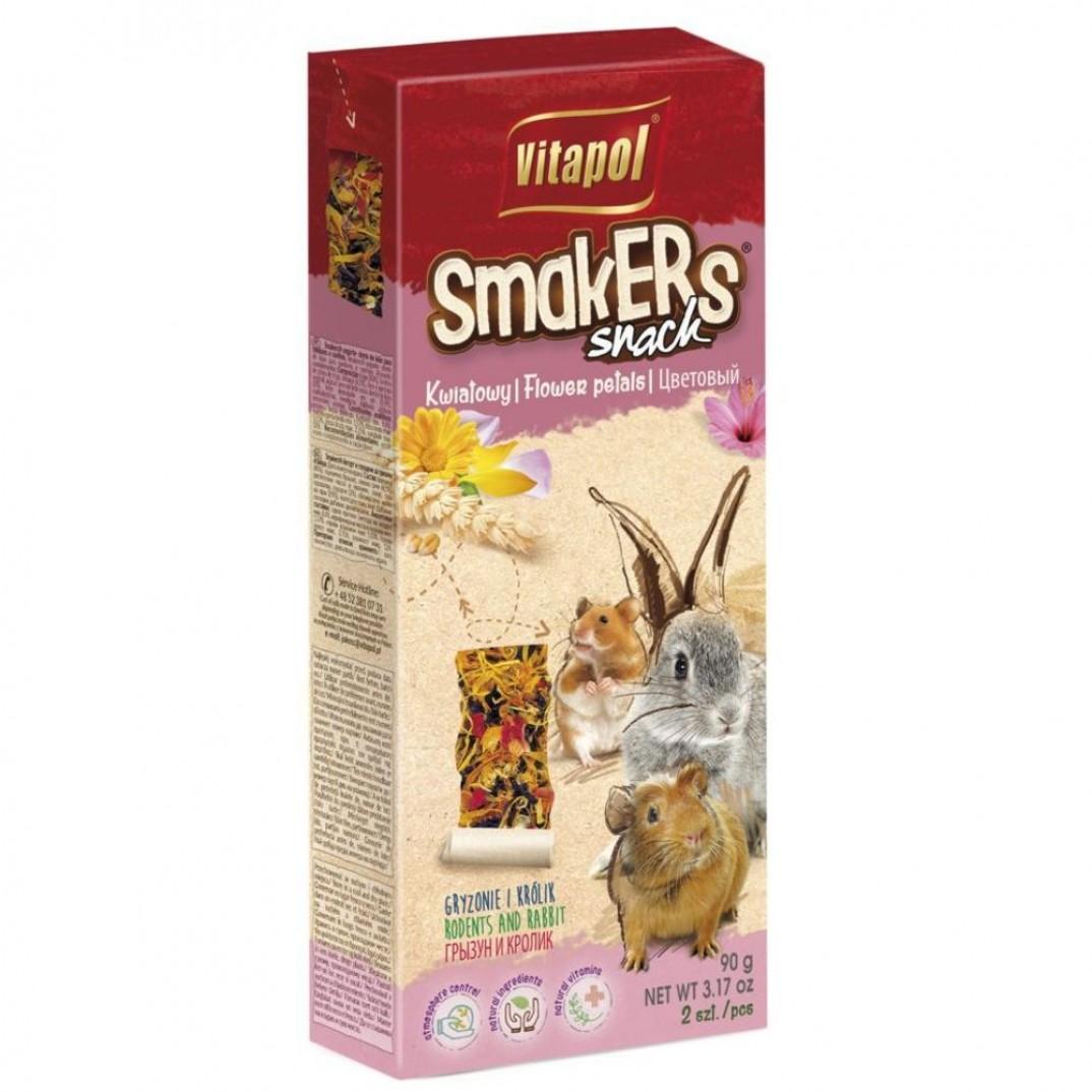 Vitapol smakers, stok voor knaagdieren bloemblaadjes 90 gram